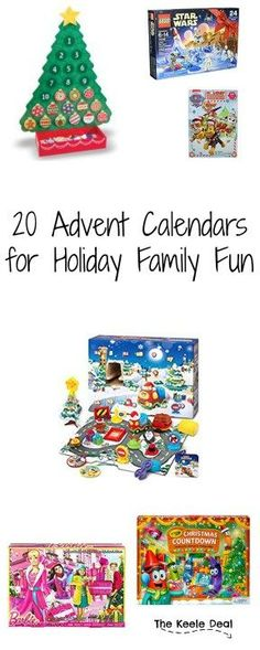 20 Advent Calendars for Holiday Family Fun - Advent Calendars are a fun way to count down to Christmas. Having something to look forward to each day is fun for kids and adults alike.