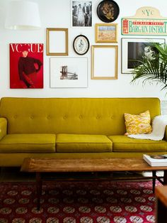 mustard couch