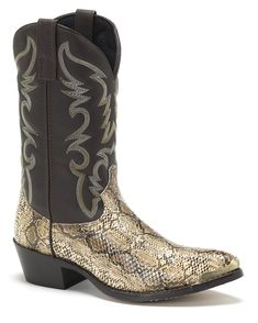 Sendra SE3241SANT Men's Python Snakeskin Cowboy Boots, Jersey Oversize, Skinny, Cool Boots, Western Boots, Python, Sexy, Exotic, Shoes