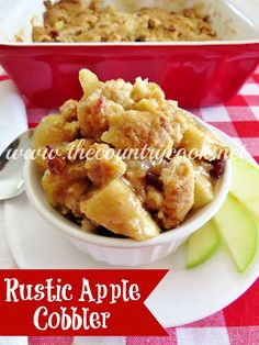 The most AMAZING Apple Cobbler...like ever.