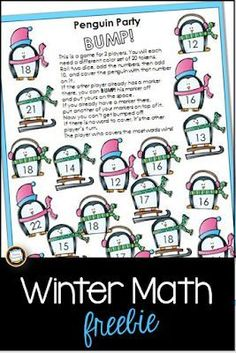 Addition and place value in one free game! Your students will roll two dice, add Free Math Games, Fun Math, Math Activities, Math Resources, Literacy Games, Classroom Resources, Winter Activities, Maths, Classroom Ideas