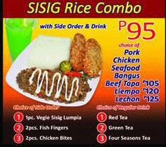 Sisig Rice Combo Meals