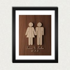 wooden engagement gifts - Google Search