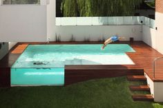 Sneak a Peek - Pool Design with a innovative cutout design - Via Home Design Lover