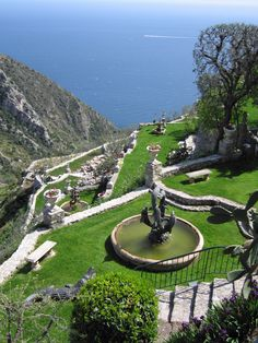 Eze France, gardens overlooking the Meditteranean
