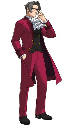 Phoenix Wright: Ace Attorney Dual Destinies - Miles Edgeworth, He indeed looks like his daddy..,glasses!