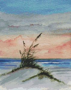 Cross stitch kit by Rosie Brown 'Seascape Sunset' by GeckoRouge, $80.19