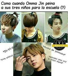 Read BTS from the story ❛❛ Memes del Kpop ❞ by (C. Bts And Exo, Bts Jin, Bts Taehyung, Bts Bangtan Boy, Jimin Jungkook, K Pop, Seokjin, Vkook Memes, Bts Chibi
