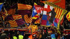 Barcelona fans show their support prior to the UEFA Champions League Round of 16 Second Leg match between FC Barcelona and Olympique Lyonnais at Nou Camp on March 2019 in Barcelona, . Get premium, high resolution news photos at Getty Images Barcelona Shirt, Fc Barcelona, Eric Cantona, Special Games, Sir Alex Ferguson, Old Trafford, Meet The Team, Uefa Champions League, Best Memories