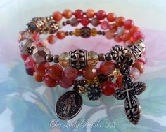 Rosary Bracelet Wrap,New Agate Semi-precious,Mother's Day,Confirmation Gift,Bridal,First Communion,Religious Catholic Gifts,#561 by OURLADYBeads on Etsy