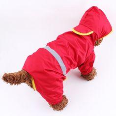 犬のレインコート オレンジ/赤/ペットのレインコート/犬 レインコート/雨具/レイングッズ ppt-353101/201 1