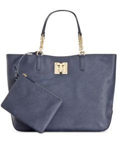TOMMY HILFIGER Tommy Hilfiger Clara Textured Leather Tote . #tommyhilfiger #bags #leather #hand bags #tote #lining #