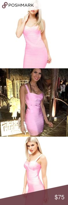 """💗💗 Brazilian Baby Pink Bandage Dress No brand. Body-contouring, curve-hugging dress. Strong, thick bands. Very flattering fit for all body types. Great for any occasion. Sizes XS-XL. [Size Chart]: Size XS fits 30-32"""" bust, 21-25"""" waist, 32-34"""" hips; Size S fits 32-34"""" bust, 25-27"""" waist, 34-35"""" hips; Size M fits 34-35"""" bust, 27-28"""" waist, 35-36"""" hips; Size L fits 34-36"""" bust, 28-30"""" waist, 36-38"""" hips; size XL fits 36-38"""" bust, 30-32"""" waist, 38-40"""" hips. Dresses"""