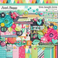 Sweet Shoppe Designs :: NEW Releases :: New Releases - 5/17 :: Live.Laugh.Love: COLLECTION By Studio Flergs