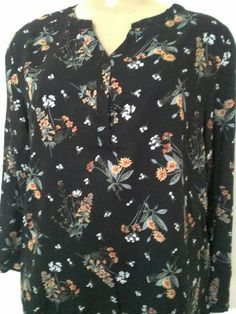 Camisa de viscose feminina plus size