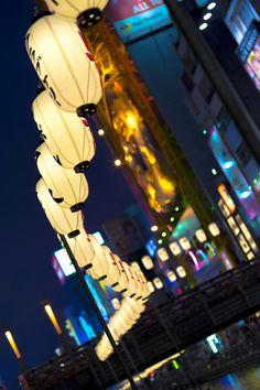 Doutonbori-river Paper lantern Festival OSAKA,JAPAN
