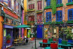 bohemian, cafe, city, colourful, covent garden, garden