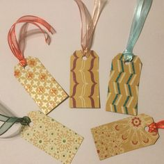 "Gift Cards for All Occasions.  Made from sturdy lightly glitter Card Stock in a variety of floral patterns.  Also using Nylon Ribbon.  Tag measures 1.75"" x 3.25"