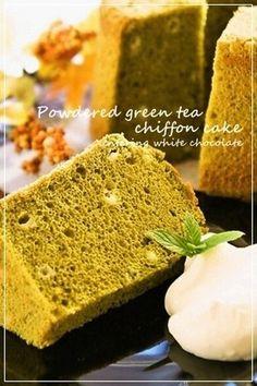 ... cakes on Pinterest | Chiffon cake, Orange chiffon cake and Matcha