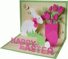 Silhouette Design Store - View Design happy easter pop up card cards pop up Silhouette Design Store: Happy Easter Pop Up Card Diy Easter Cards, Easter Crafts, Happy Easter Cards, Handmade Easter Cards, 3d Cards, Pop Up Cards, Pop Up Karten, Rabbit Crafts, Diy Ostern