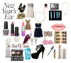 New Year's Eve Party in NYC! by keeksdosramos on Polyvore featuring polyvore, fashion, style, Oneness, Coast, ALDO, Blue Nile, Roberto Cavalli, Giovane, Ben-Amun, ALPHABET BAGS, Lime Crime, Bobbi Brown Cosmetics, Monki, Ilia, Bourjois, Estée Lauder, Jimmy Choo, Eos and OPI