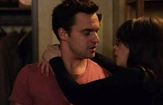 New Girl   Nick Miller   Jessica Day - when he literally swept her off her feet….geez the most romantic thing ever!!!