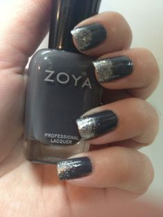 Zoya Kelly with Zoya Trixie and OPI Servin Up Sparkle as a gradient