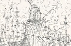 line work by Moebius