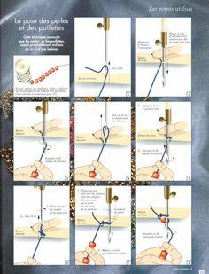 Tutoriel pour coudre des perles au crochet
