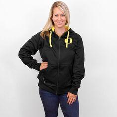 Women's Black Nike Oregon Sideline Therma-FIT Full Zip Hoodie Sweatshirt