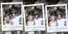Photobooth polaroid  Married: Jessica & Shane   Wavehouse Studios Yallingup