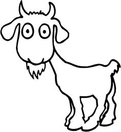 Surpised Goat Color Page Animal Coloring Pages For Kids Thousands Of Free Printable