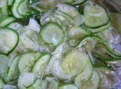 Freezer Pickles Recipe