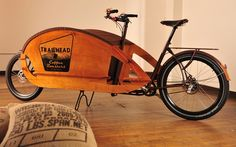 Trailhead Coffee Roasters, Portland. Specially designed 'Coffee Cruiser'.