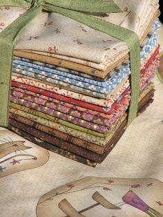 Garden fabric... so  prettily  presented!