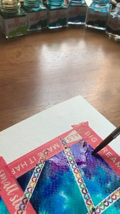 I love using the wet-on-wet technique to create mesmerizing blends and bleeds ❤️ Washi tape is handy when painting mosaics like this one! painting canvas for him Rainbow watercolor painting 😍 Paintings I Love, Watercolor Paintings, Watercolor Art Kids, Watercolour, Watercolor Video, Watercolor Techniques, Painting Canvas, Art Sketches, Art Drawings