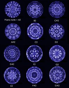 freshphotons: 12 Piano notes made visible for the first time.     This is funky!