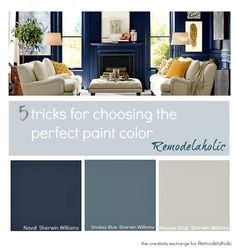 5 tricks for choosing the perfect paint color. Real-life tips for finding a paint color to work for you!