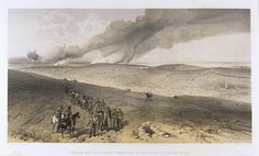 'Redan and Advanced Trenches of British Right Attack,' by William Simpson, 1854 (lithograph). William Simpson (1823-99) was a Scottish painter who became noted for his depictions of the Crimean War (1853-6)