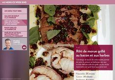 L'enrobage de bacon de cette recette permet de cuire du poisson au barbecue sans que sa chair délicate colle à la grille, en plus de lui transmettre son goût fumé que j'aime tant.-Préparation:25 minutes-Cuisson:20 minutes-Rendement:4portions-