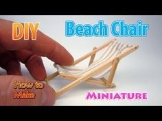 (15) DIY Miniature Beach Lounge Chair | DollHouse | No Polymer Clay! - YouTube