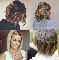 Penteado cabelo curto com trança