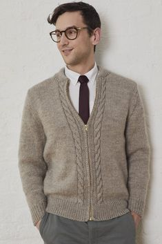 Free Men's Knitting Pattern for a Neighborly Cardigan