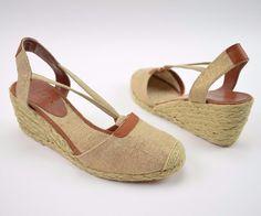 956e826e996d Lauren Ralph Lauren Cala NIB Wedge Espadrille Slingback Sandals Women s  Size 7.5  LaurenRalphLauren  PlatformsWedges