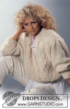Hot hit from the 80's! Use one of our soft mohair yarns: DROPS Vienna or DROPS Verdi and make your new favorite! #jacket #throwbackthursday #knitting