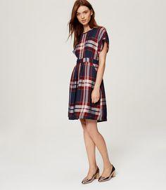 Primary Image of Plaid Dolman Dress