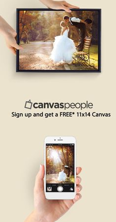 """For a limited time - get your first canvas free. 11x14"""" museum quality prints every time"""