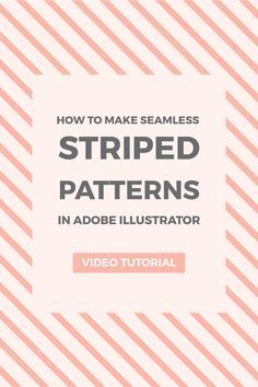 How to make seamless striped patterns in Illustrator. Learn how to create seamless horizontal, vertical, and diagonal pattern using the Illustrator pattern tool.