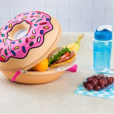 You've got our permission to play with your food Donut Touch My Food! The Lunch Tote collection brings the fun back to lunch time, and this Frosted Donut Lunch