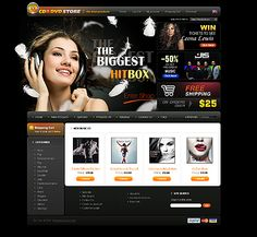 CD DVD ZenCart Templates by Delta